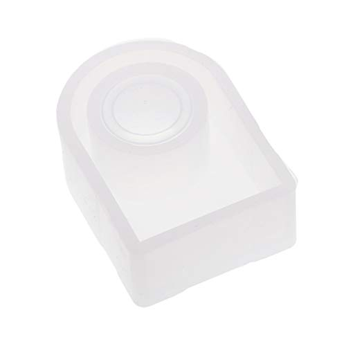 Sharplace Moule Silicone de Bague Pendentifs Résine Ajouter Perles/Paillettes/Fleurs Séchées/Embellissements pour Création de Bijoux - 15mm