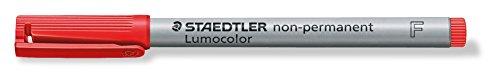 STAEDTLER® 316-2 Overheadstifte-und Etuis,Korrekturmarker,Overheadtextmarker Feinschreiber Universalstift Lumocolor Non-permanent, F, rot