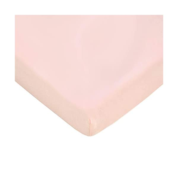 American Baby Company 100% Natural Cotton Value Jersey Knit Fitted Portable/Mini-Crib Sheet, Pink Star/Zigzag, 24″ x 38″ x 5″, Soft Breathable, for Girls, Pack of 3
