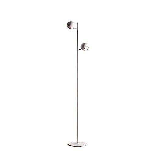 5151BuyWorld Lamp Staande lamp, modern, eenvoudig, voor slaapkamer, woonkamer, staande lamp, licht, ijzer, wit/zwart, kop, lampenkap, 110 V, hoogwaardige kwaliteit