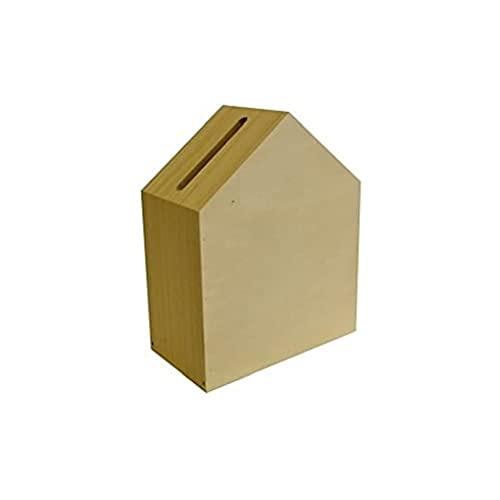 Artemio 14002118 Urne Maison à Décorer, Bois, Beige, 24 x 13 x 30 cm