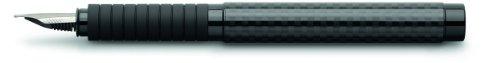 Faber-Castell 148820 - Füllfederhalter Basic Black Carbon, Feder M, schwarz