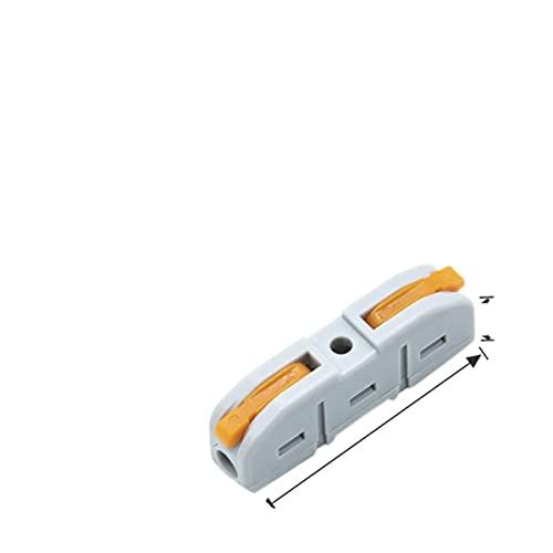 TRLOIYEW 20/50 Piezas Bloques de terminales de Empalme Compacto Mini Conector de Cable rápido Conectores rápidos eléctricos LED universales 0,08-4 mm2 / 28-12 AWG-China, 211,50 Piezas