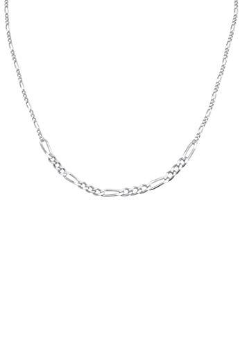 Elli PREMIUM Collares PREMIUM Plata Esterlina 925 Collar Choker Cadena Figaro Basic Trend