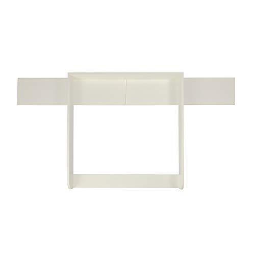 Puckdaddy Wickelaufsatz Levi – 160x80x10 cm, Wickelauflage aus Holz in Weiß, hochwertiger Wickeltischaufsatz passend für IKEA Hemnes Kommoden, inkl. Montagematerial zur Wandbefestigung