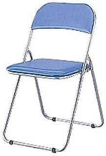 ナカバヤシ デスクチェア 折りたたみ パイプ椅子 ブルー CX-201B