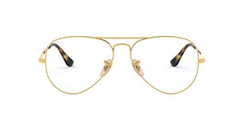 Ray-Ban 0RX6489, Monturas de Gafas Unisex adulto, Marrón (Gold), 55