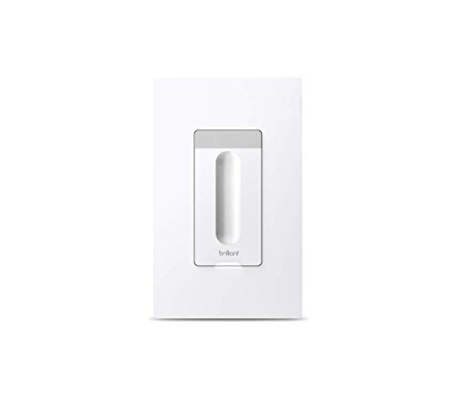 Brilliant Smart Dimmer Switch (White) — Compatible with Alexa, Google Assistant, Apple HomeKit, Hue, LIFX, SmartThings, TP-Link, Wemo and More