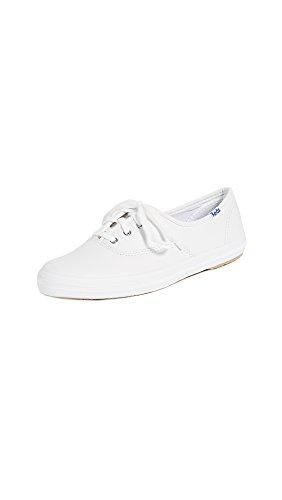 Keds Damen Champion Core LTH Sneaker, Bianco White Leather, 40.5