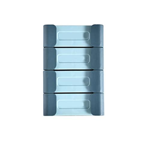 Heigmz GG - Colgadores para pared (10 unidades, ganchos para baño, sin agujeros, para toallas, ropa, con almohadilla autoadhesiva (color azul)