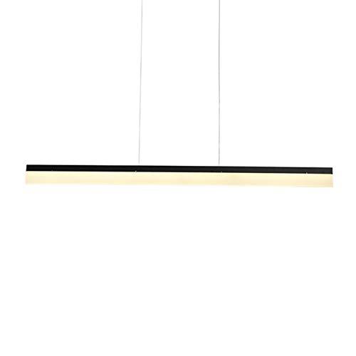 LIUYU Luz Pendiente Moderna LED Mesa de Comedor acrílico Luz Inicio Loft Decoración lámparas Colgantes de Cocina luminaria Luminaria (Body Color : Negro, Emitting Color : Cool)