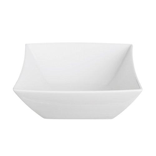 Excelsa Ciotola Quadra in Porcellana, cm 14.4 X 11.3, Bianco