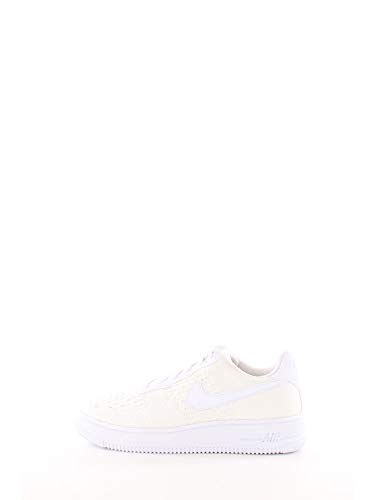Nike Herren Air Force 1 Flyknit 2.0 (gs) Basketballschuhe, Weiß (White/White/White 100), 37.5 EU