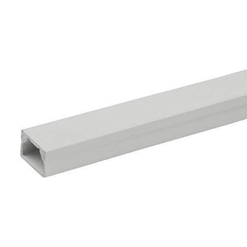1,2m Kabelleiste LS 20x12 PVC Kabelkanal Installationskanal Kanalleiste Elektro Kanal Aufputz Marmat 0022