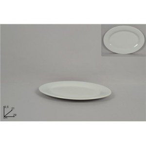 A.K TRADING Assiette Blanche Ovale 29 X 21 CM REF 8065 Code 2632
