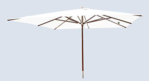 TTPM Sonnenschirm aus Holz mit FSC Zertifikat 4x4m Natur
