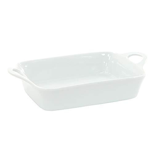 ProCook - Plat de Cuisson en Porcelaine Petit Blanc