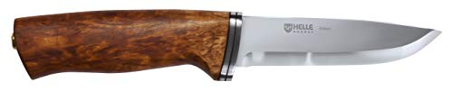 Helle Outdoormesser Alden - Cuchillo de hoja fija, color marrón