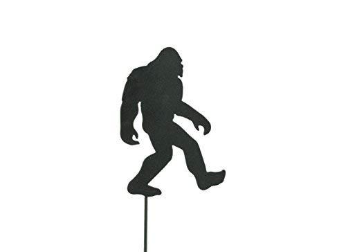 BLUE LUCA Bigfoot Garden Art Pick | Black Powder Coat Finish | Bigfoot is 3.5 X 5.75 inches | Made in USA