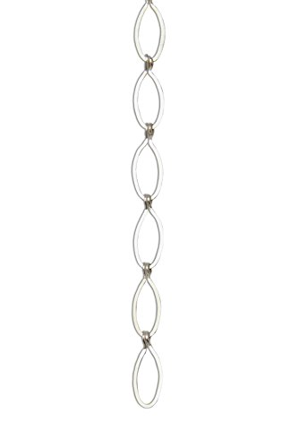 RCH Hardware CH-04-MS Brass Chandelier Chain, Matte Silver (1 Foot)