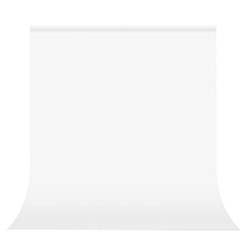 UTEBIT White Backdrop 10 x 10 ft Collapsible Polyester Photography Background Screen Cloth Sheet Seamless 3x3m for Photo Booth Photoshoot Portrait Headshot Video Studio Pictures Televison