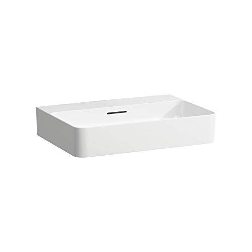 Laufen VAL Möbel-Waschtisch, ohne Hahnloch, mit Überlauf, 600x420, weiß, Farbe: Weiss matt