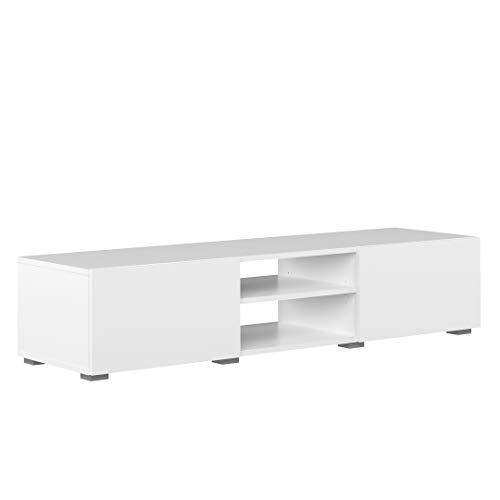 Marchio Amazon -Movian Lijoki - Mobile TV, 140 x 42 x 31 cm (L x P x A), colore bianco