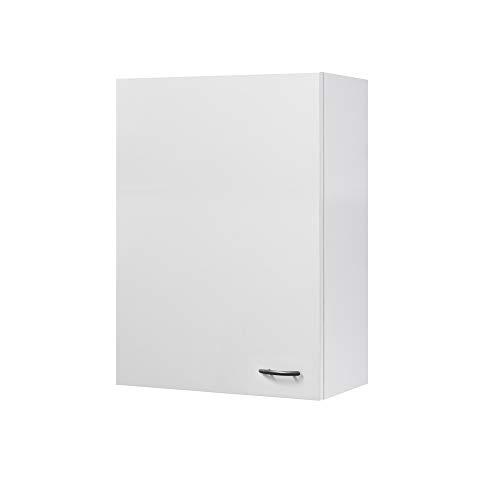 Flex-Well Küchen-Hängeschrank UNNA | Oberschrank vielseitig einsetzbar | 1-türig | Breite 60 cm | Höhe 89 cm | Weiß