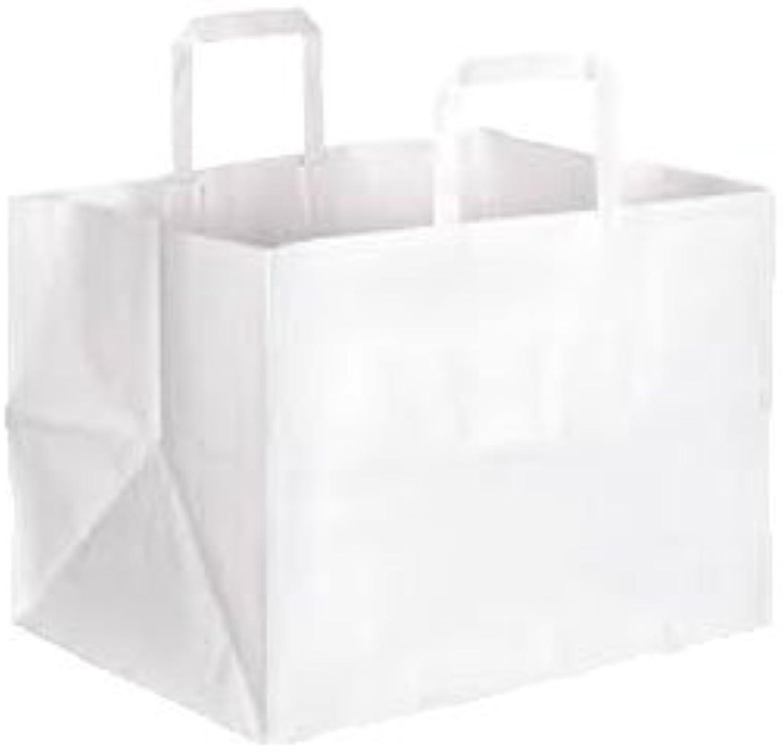 200 weiße Papiertüten Papiertragetaschen Bäckertaschen 32 x 22 x 24 cm NEUTRI mit extrabreitem Boden B07DGCYB98    Perfekt In Verarbeitung