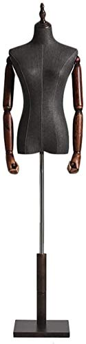 HongLianRiven Sastres maniquí Femenino Vestido de Altura Ajustable Maniquí FormStanding Parte Superior del Torso del maniquí por escaparates (Color : S)