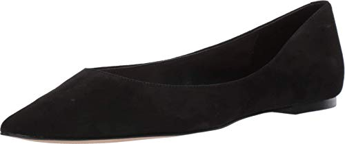 botkier Womens Annika Pointed Toe Flat, Black, 9.5