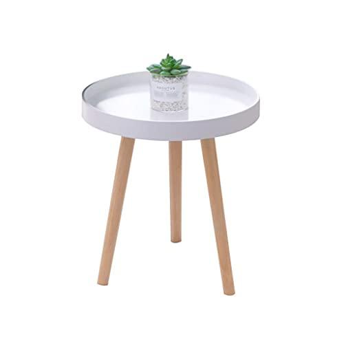 Mesa de Centro Mesa de centro, mesa de té simple mesa de té de mesa sofá mesa sala de estar sala de estar balcón pequeño café a la mesa blanco, gris Mesitas de salón para el café ( Color : A )