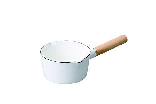 パール金属 クレヴィア ホーローミルクパン15cm ホワイト