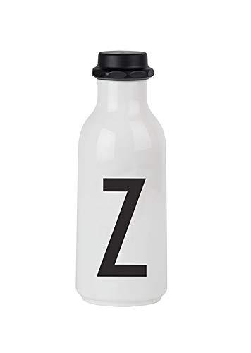 Design Letters Bouteille d'eau personnelle - Z - Sans BPA et sans BPS, Design nordique, Disponible auprès de A-Z, Utilisez le biberon lors de vos déplacements, Étanches, 500 ml, 90 g.