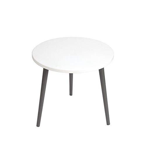 BIM Furniture kindertafel Snow White O MoonWood speeltafel schildertafel knutseltafel rond wit van hout hoogte: 41-47 cm Ø 60 cm modern grafietgrijs