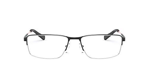 AX Armani Exchange AX1038 - Marco rectangular para gafas graduadas, color negro mate, lente demo, 56 mm