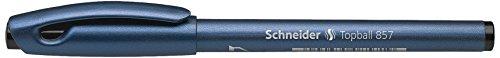 Schneider Schreibgeräte Tintenroller Topball 857, mit stabiler Metallspitze, 0, 6, Schwarz