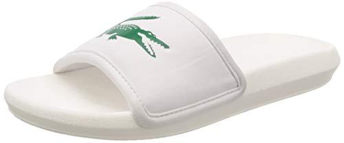 Lacoste Croco Slide 119 3, Chaussures de Plage & Piscine Homme, Blanc (White 737CMA0020082), 43 EU
