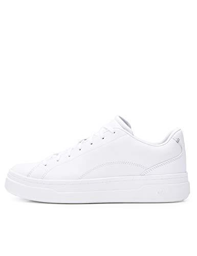 CARE OF by PUMA Sneaker da donna basse con zeppa in pelle, Bianco (White), 38 EU