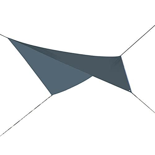 Lona para hamaca de camping, resistente a la lluvia, resistente al agua, para camping, senderismo (gris)