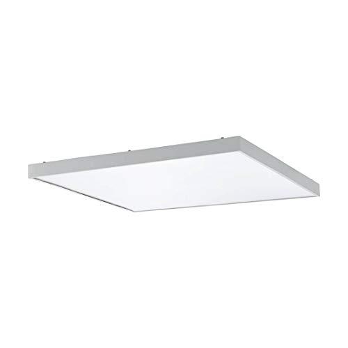 Plagliarone - Lámpara de techo led (59,5 x 59,5 x 4 cm), color blanco