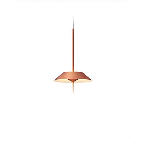 MGWA Luz de Techo LED De Aleación De Aluminio Pintura Asado Tipo Paraguas Hierro Lámpara Artesanal Posmoderna Personalidad Creativa Restaurante Dormitorio Cama Pasillo Escaleras Barra 3 Colores