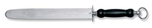 Stubai Fusil de Boucher Plain-Ovale, Acier Inoxydable, Argent/Noir, 28 x 13 x 13 cm
