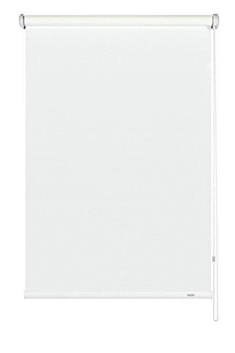 GARDINIA Seitenzug-Rollo, Decken-, Wand- oder Nischenmontage, Lichtdurchlässig, Blickdicht, Alle Montage-Teile inklusive, Weiß, 92 x 180 cm (BxH)
