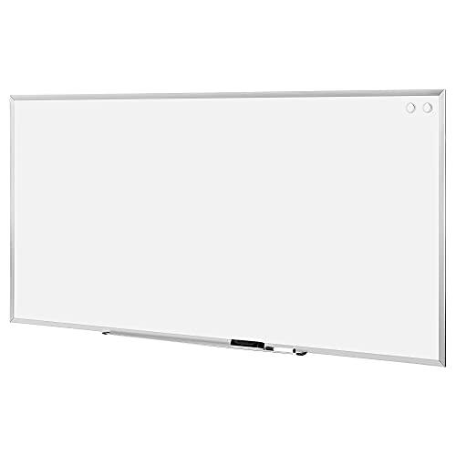 Amazon Basics Large Magnetic Dry Erase White Board, 8 x 4-Foot Whiteboard - Silver Aluminum frame