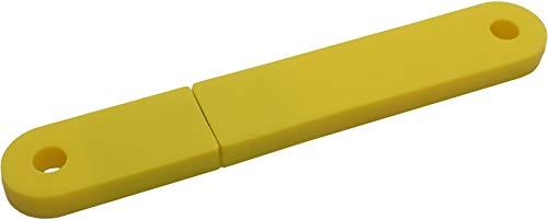 USBfix - USB-Stick zum Abheften V2 USB2.0 32GB TypA Flach Gelb 3er-Pack