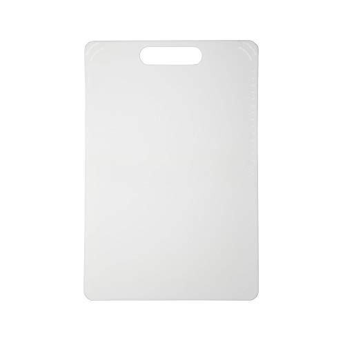 Cut Proof Flexible White Cutting Board, Large 15x10, Heat and Stain Proof Material