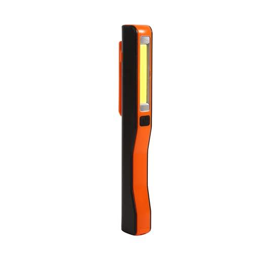 Antorcha LED, Antorcha LED Recargable Nuevo Tipo Portátil Fácil de Llevar 1 Pieza Hecho de Material ABS Tamaño Compacto y Ligero para Examen de Vehículos para Senderismo(rojo)
