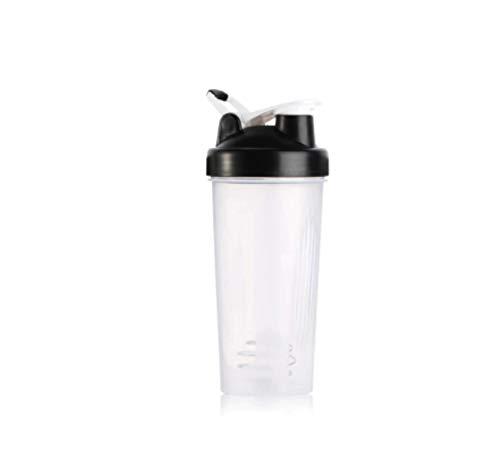 Botella de Agua Itness de 400 ml Botella coctelera Creativa Botella de Mezcla de Polvo de proteína de suero Deportivo con Bola agitadora Sin BPA Negro