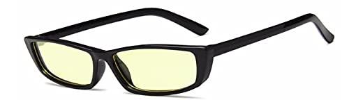 ShZyywrl Gafas De Sol De Moda Unisex Gafas De Sol Rectangulares Blancas para Mujer, Bonitos Tonos, Montura Pequeña, Vintgae, Retro, para Hombre, Hip Hop, Gafas